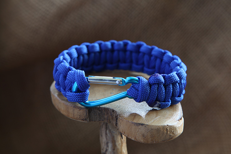 Paracord Carabiner Bracelet Climbing Rope Jewellery Hanging By A Fred